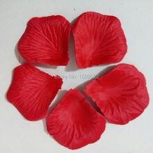 20 пакетов 2000 шт. красный искусственного шелка лепестки роз с цветочным рисунком для девочек Свадебные душ вечерние прохода украшения расположение