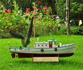 Scale 1/25 NAXOS RC Fishing ship remote control wood boat SC MODEL kit include Code 540 Dynamo