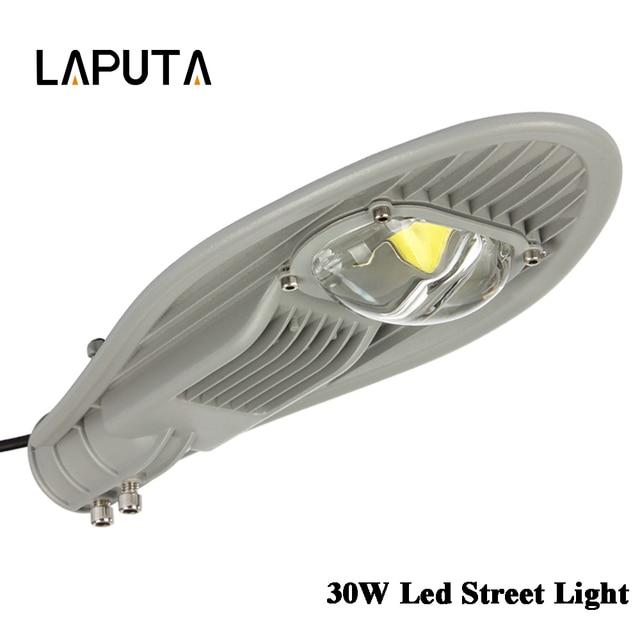 1pcs Best 30W Led Street Light Waterproof IP65 AC85-265V Led Streetlight Road Garden Lamp Warm/Cold White Spotlights Wall Lamp