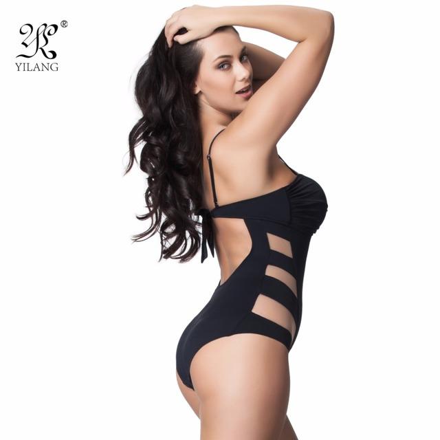 Sexy Transparent Mesh Women's One Piece Swimsuit