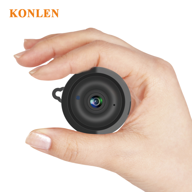 KONLEN Home Security MINI WIFI 720P IP Camera Wireless Small CCTV Infrared Night Vision Motion Detection SD Card Slot Audio APP