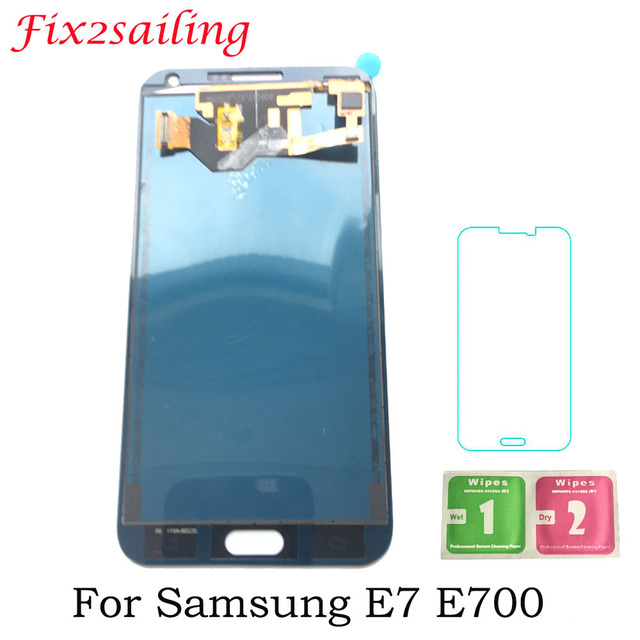 Fix2sailing 5.5inch New LCD Display For Samsung Galaxy E7 LCD E700 E700F E700M LCD Display Touch Screen Replacement E7 LCD