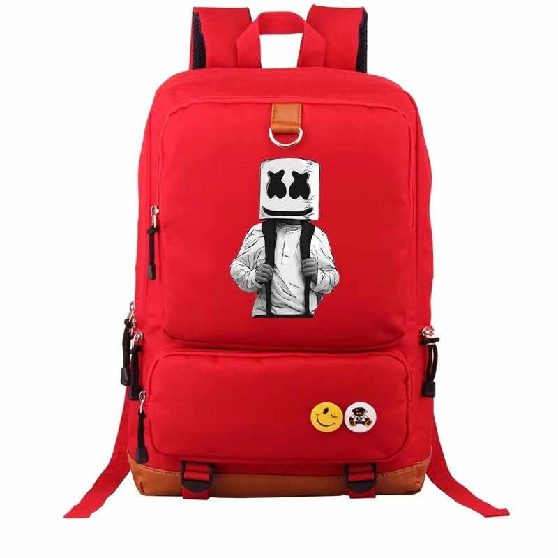 DJ Marshmellow школьные сумки ZSQH DJ Marshmello новый стиль реквизит косплей костюм для детей женщин и мужчин Зефир Симпатичные Рюкзаки