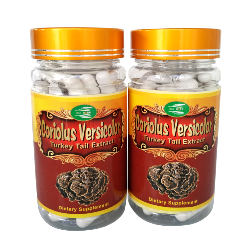 3Bottle Coriolus Versicolor (Turkey Tail) Extract 30% Polysaccharide Caps 500mg x 270counts free shipping valerian root extract 500mg 50 capsules free shipping