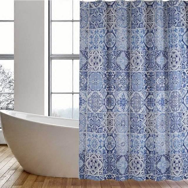 Wasserdicht Blau Fliesen Muster Sitzwanne Badezimmer Produkt 100 ...