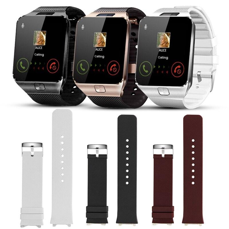 DZ09 Smart Watch Strap Silicone Wrist Watch Straps Replacement Bracelet For DZ09 Smart Watches