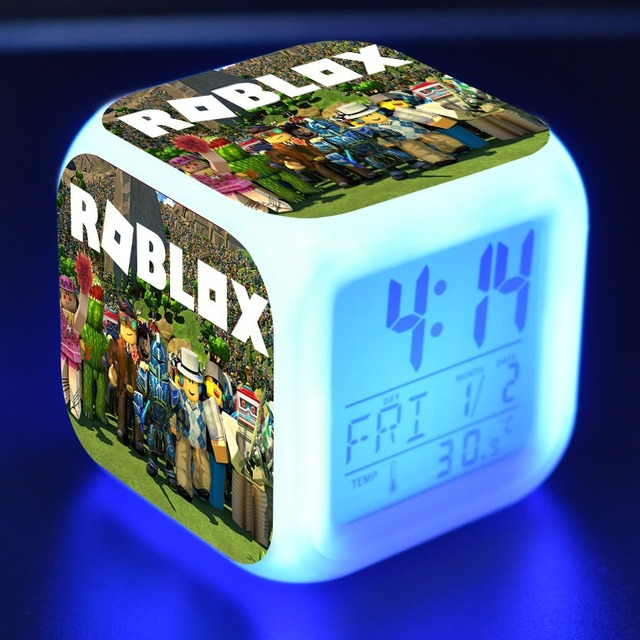 US $2 79 |Roblox Cartoon Alarm Clock Kids Toys Led Reloj Despertador  Digital Alarm Clock Electronic Wake Up Light Table Reveil Wekker-in Alarm  Clocks