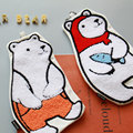 U-pick Creative polar bear towel embroidery cosmetic bag