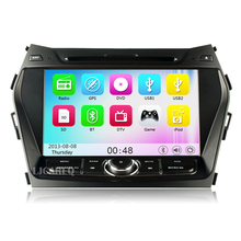 8″ touchscreen Car DVD GPS Player for HYUNDAI IX45 Santa Fe 2013 2014 Car stereo radio Navigation bluetooth 3G wifi Free Map