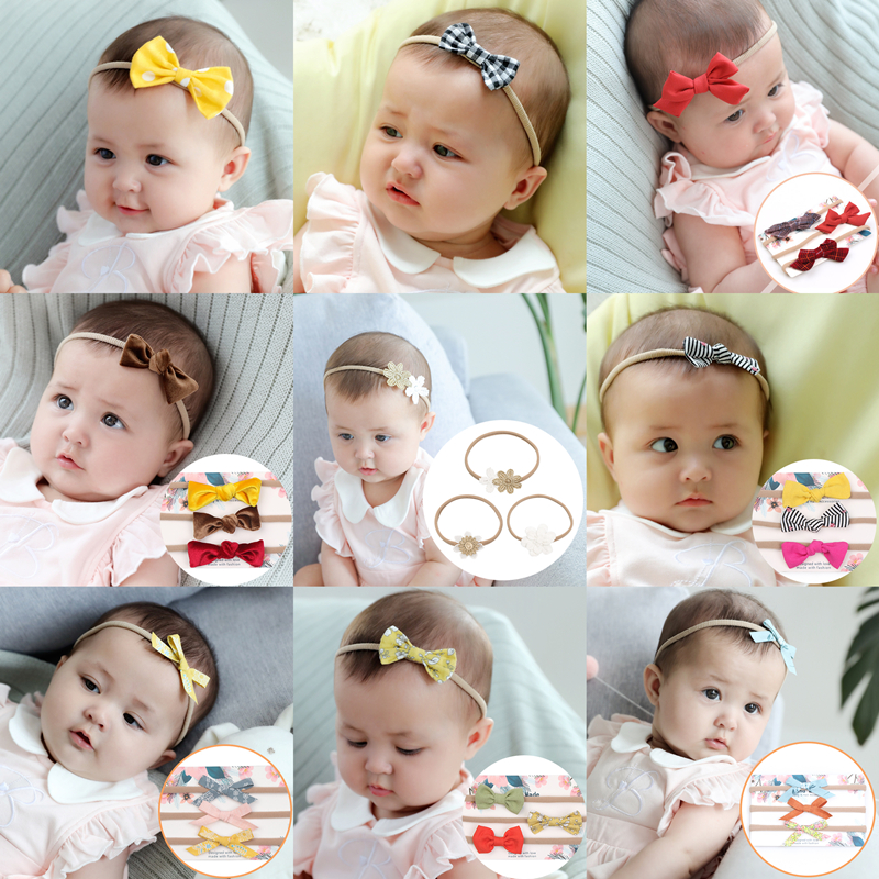 48 Colors Baby Girl's Turban Flower Headband Kids Bowknot Hair Bands Newborn Photography Accessories Children Clothing Outfit