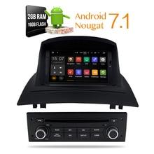 Android 7.1 Car Stereo DVD Multimedia For Renault Megane 2 Fluence 2002-2008 Auto Radio GPS Navigation Audio Video 2GB RAM