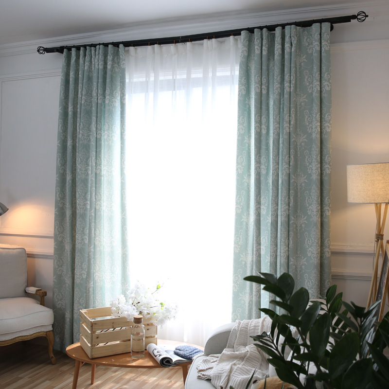 Fabric Luxury Living European Curtains Jacquard Curtains Bedroom Curtain  Balcony Window Modern Short Door Room