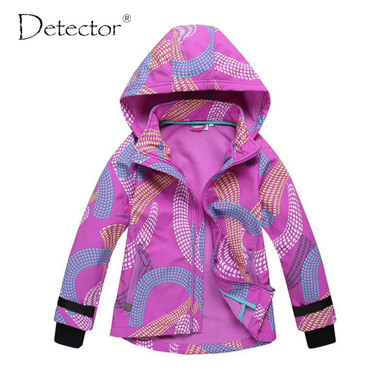 Detektor flicka softshell jacka Purple 92-128