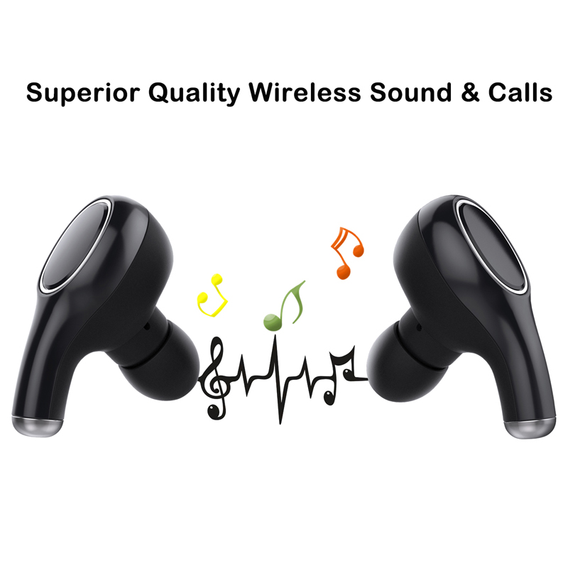 YQ2 TWS Bluetooth Earphone True Wireless Earbud Waterproof Deep Bass Stereo Sound Sport Headset For Phone With Charger Box