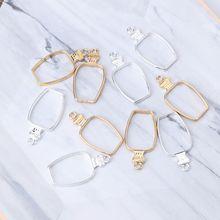 5Pcs Water Bottle Metal UV Frame Pendants Open Bezel Setting UV Resin Jewelry