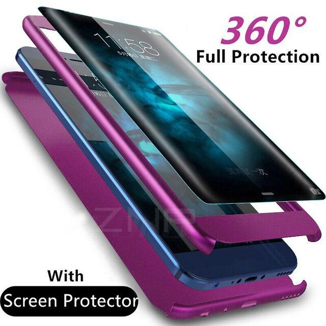 ZNP יוקרה 360 תואר מלא כיסוי טלפון מקרה לסמסונג גלקסי S9 S8 בתוספת S10 עמיד הלם כיסוי לסמסונג הערה 8 9 S9 בתוספת מקרה