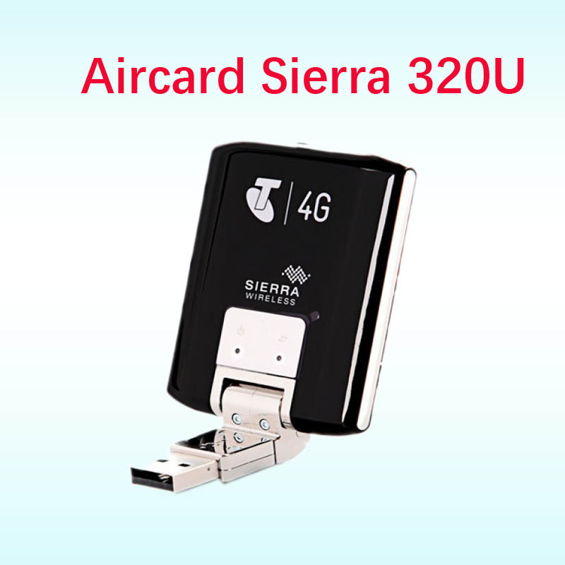 Débloqué 4g lte Modem Aircard Sierra 320U 4g LTE Modem carte 100 Mbps lte 4g USB Dongle 4g modem antenne ts9