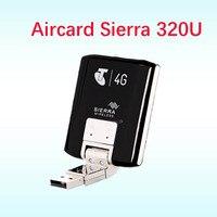 Unlocked 4g lte Modem Aircard Sierra 320U 4G LTE Modem card 100Mbps lte 4g USB Dongle 4g modem antenna ts9