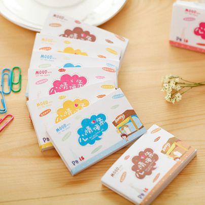 Memo Pad Cute Mood Note Can Tear Notes This Small Fresh Day Korean Stationery Wholesale 50 Pages
