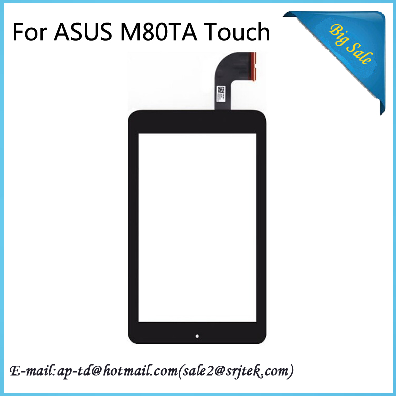 Srjtek 8inch Black For ASUS VivoTab Note 8 M80TA Touch Screen With Digitizer Panel Front Glass Lens Tablet Pc tablet touch panel 10 1 inch for asus me302 touch screen digitizer front glass with flex cable assembly 100% new