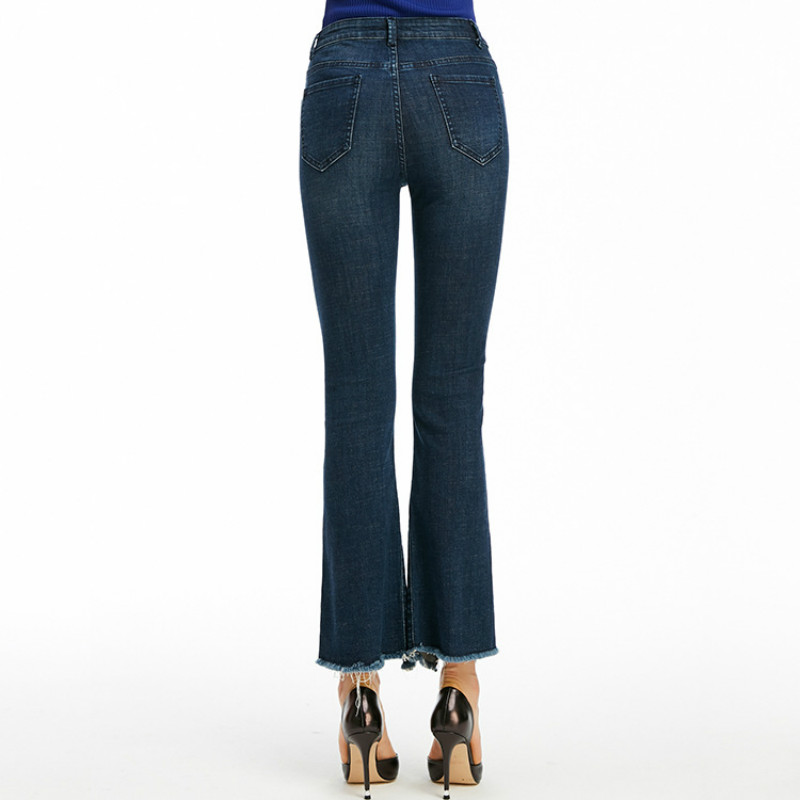 HXJJPSpring Autumnnew Fashion Style  High Waistband Cotton  Skinny Jeans Women