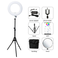 Yidoblo QS 480DII Bluetooth APP Control Photography Ring lamp 18 480PCS LED Ring Light Warm & Cold Color Adjustable Ring Lamp