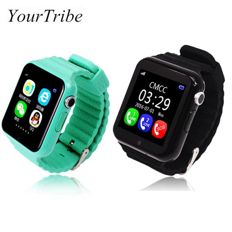 imágenes para Los niños la seguridad perdida anti gps tracker smart watch v7k 1.54 ''con cámara de facebook niños sos de emergencia para iphone & android pk q90