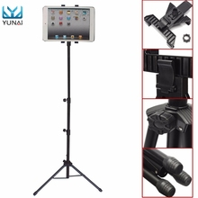 YUNAI Universal 7-10inch Adjustable Tablet Tripod Mount Holder Stand For iPad 2 3 4 Air Mini New Tablet Stand Holder For Samsung