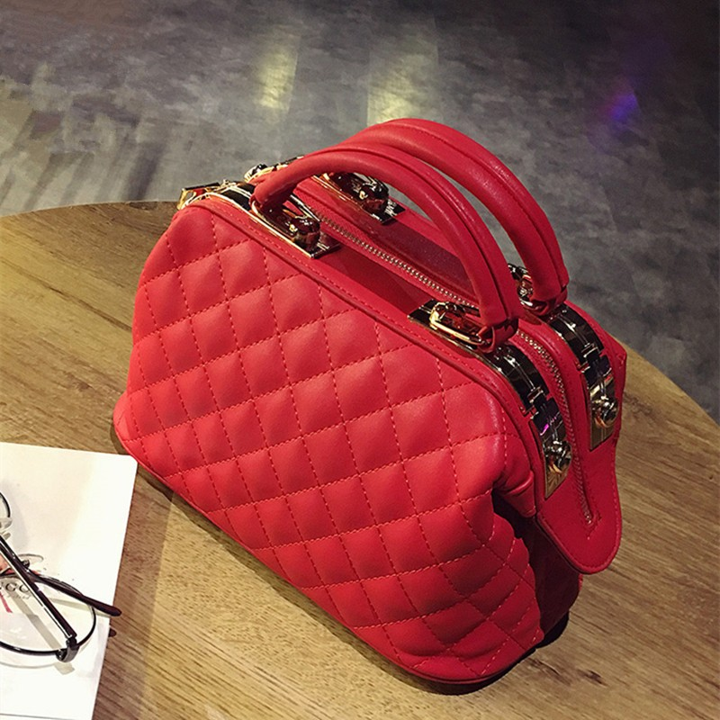 Women Quilted Leather Handbags Fashion tote bag Women Messenger Bags day clutches ladies handbag female shoulder bag bolsas sac 2017 new fashion women evening bag ladies luxury diamonds dress handbag female day clutches messenger bags handbags purses