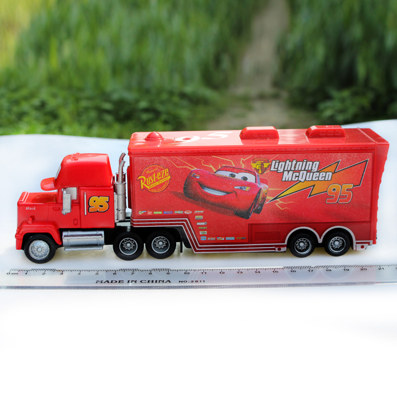 Pixar-Cars-Diecast-No95-Mack-Racers-Truck-Metal-Toy-Car-For-Children-155-Brand-New-In-Stock-McQueen-Alloy-Car-Model-Toy-1