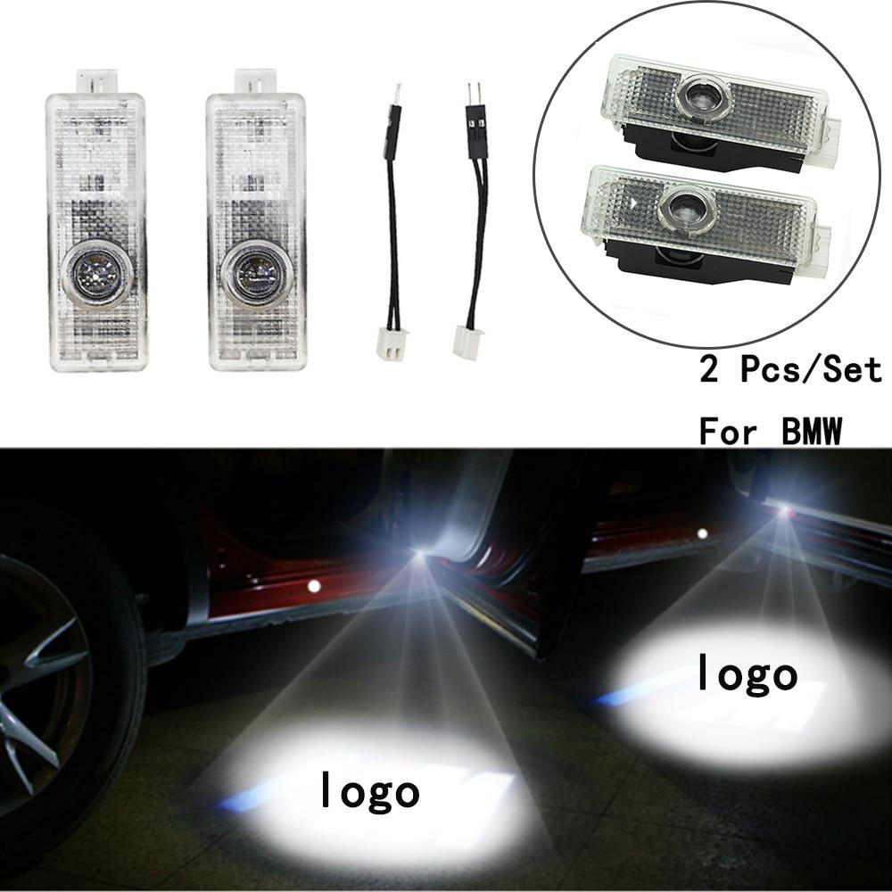 Ghost Shadow Projetor Only For BMW E60/E90/F10/F30/F15/E63/E64/E65 With Logo LED Courtesy Lens Include 2Pcs/Set Weclome Lamp