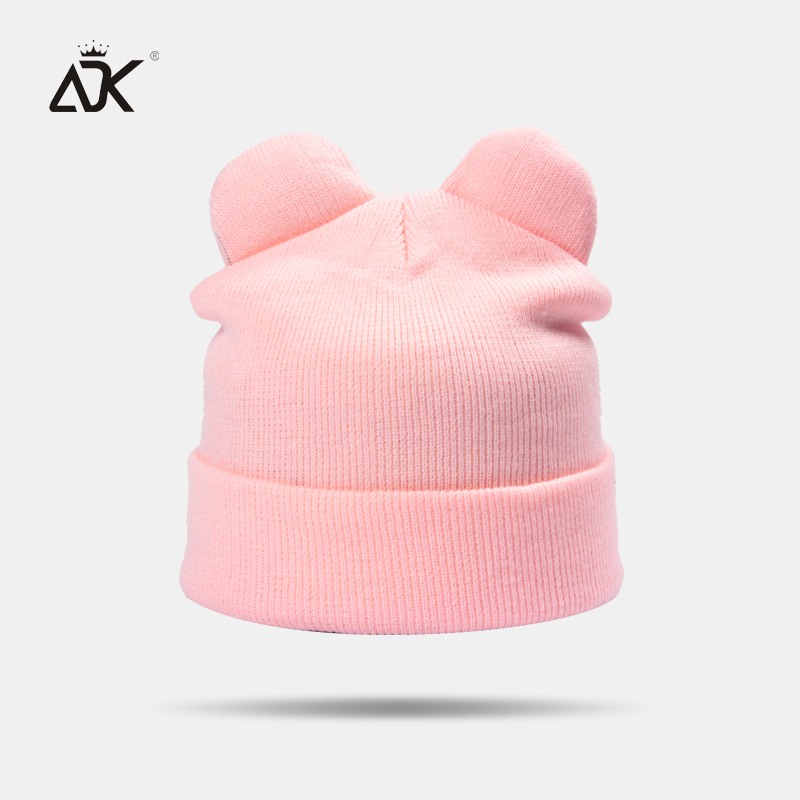 Candy Color Women'S Hats Female High Quality   Skullies     Beanies   2018 New Casual Acrylic Knitted Hat Warm And Soft Ear Hat