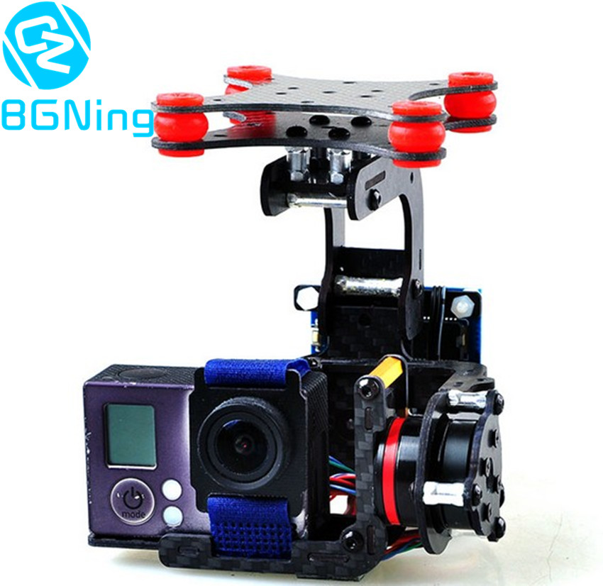 3k Carbon Fiber Brushless Gimbal with Controller Motors Full Plug & Play for Gopro 3 / 3+ / 4 Cameras for DJI Phantom FPV Drones professional drone accesorries brushless gimbal frame 2 motors controller for dji phantom gopro 4 3 3 fpv 6a30 drop shipping