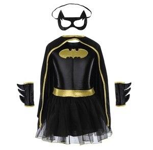 Image 2 - Disfraz de superhéroe para niños y niñas, disfraz de Batman, Batgirl, Cosplay de cómic