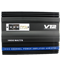 Car Amplifier V12 Amplifier Encoding 4 CH Audio High Power Amplifier Car Audio Stereo Amplifier