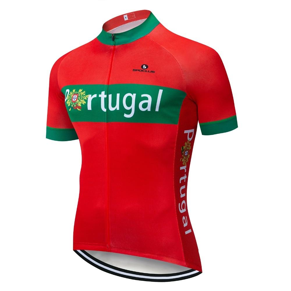 Portugal Cycling Jersey Summer Racing Cycling Clothing Ropa Ciclismo Short Sleeve MTB Bike Jersey Shirt Maillot Ciclismo