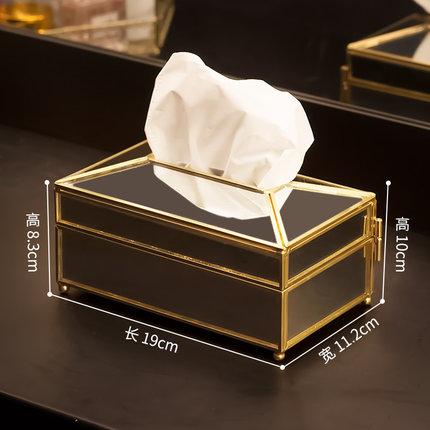 Европейская прямоугольная стеклянная металлическая коробка для ткани гостиной дома обеденного стола отеля KTV бумажная коробка для хранения полотенец декоративные аксессуары - Цвет: D