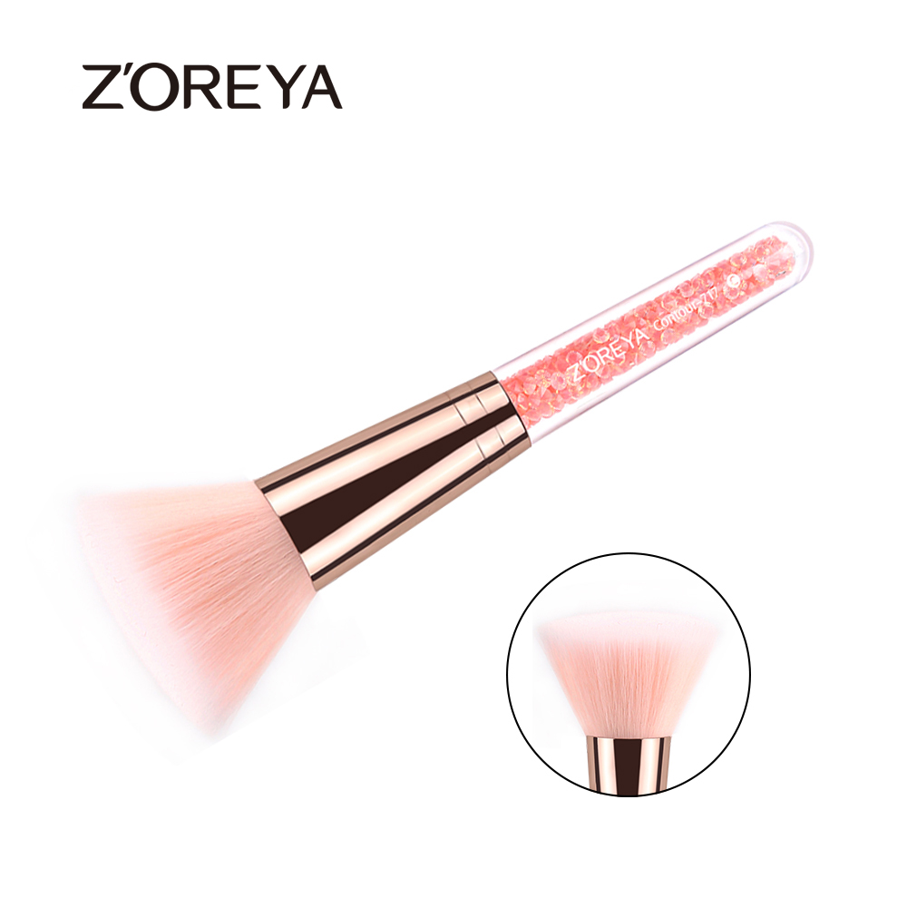 Original Flat Contour Brush Synthetic Hair Pink Crystal Makeup Brushes For Beauty Women Cosmetic Make Up Tool Kit Maquiagem new portable flat contour makeup brush used with powder blusher concealer make up brushes as beauty cosmetic tool maquiagem