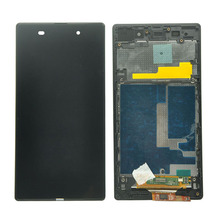 For Xperia Z1 L39H L39 C6902 C6903 C6906 LCD Display + Touch Screen Digitizer Assembly with Frame Free shipping