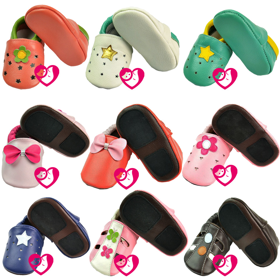 Soft Leather Baby Boys Girls Infant Shoes Slippers 0 6 6 12 12 18 18 24