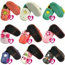 En Cuir souple Bébé Garçons Filles Infantile Chaussures Pantoufles 0-6 6-12 12-18 18-24 nouveau Style Premiers Marcheurs Dérapage-Preuve Enfants Chaussures En Cuir
