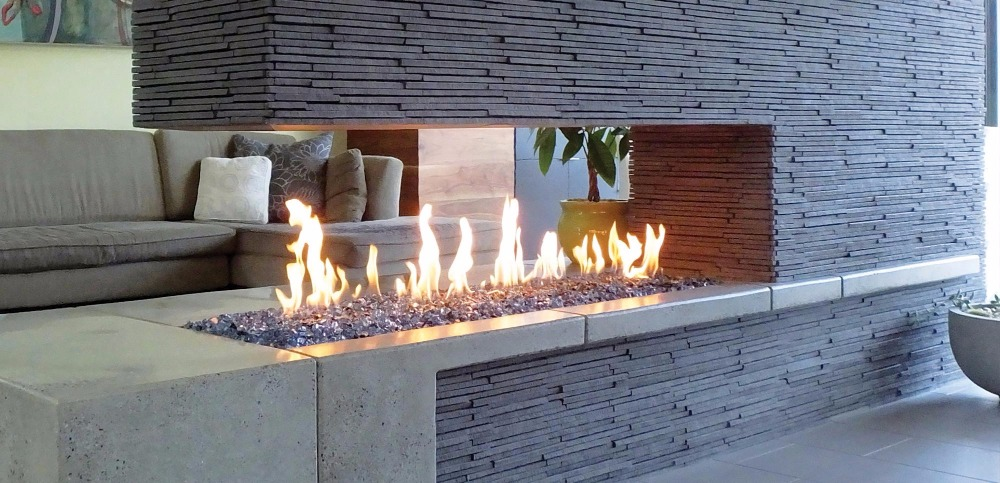 on sale 48 inch  bio ethanol fireplace with smart control wifi free shipping