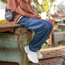2019 г. весенние и осенние новые японские Ретро Омывается говядины Брюки большой карман, Цвет Молодежные джинсы брюки синий M-2XL