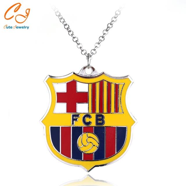 Famous Barcelona Football team Logo Pendant Necklace