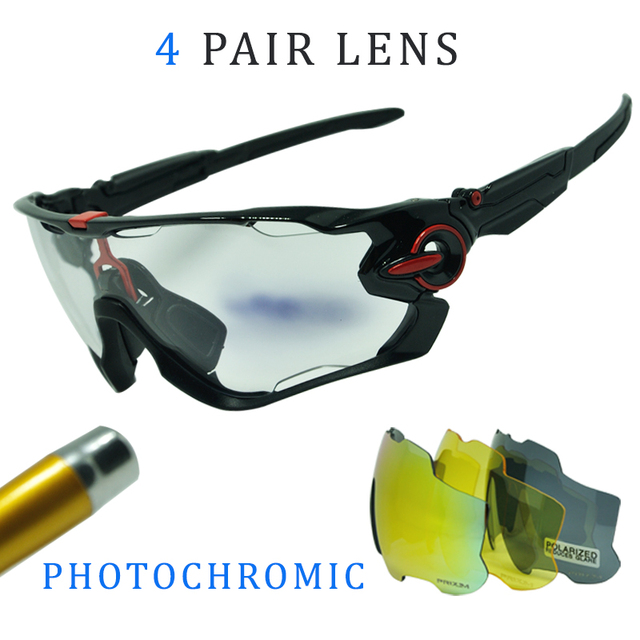 3c9f279959c Cheap 4 Lens Men Women Outdoor Sports Cycling Glasses Photochromic Polarized  Men Cycling Eyewear Sunglasses with