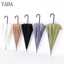 YADA 16K Japanese Style Colorful Long Automatic Golf Umbrella Rain uv Car For Women Men Windproof Umbrellas Male YS393