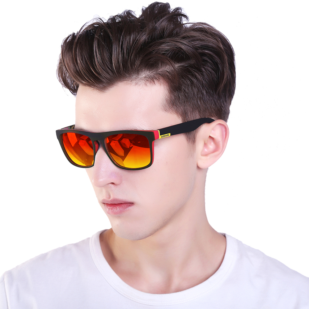 QUESHARK Professional HD TR90 Frame Polarized Fishing Sunglasses Bicycle Glasses UV400 Hiking Climbing Sunglasses Sets 2