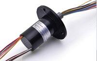 24 weg slip ring 2A CNC indizierung disc elektrische dreh leitfähige schleifring pinsel welle collector ring slip ring-in Zähler aus Werkzeug bei