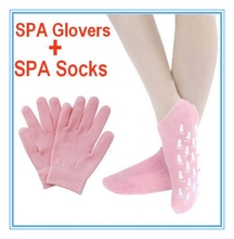 SPA Care Moisturising Dry Treatment Foot Socks Hard Whiten Skin Gloves Hand Mask New Therapy Pink Beauty Gel