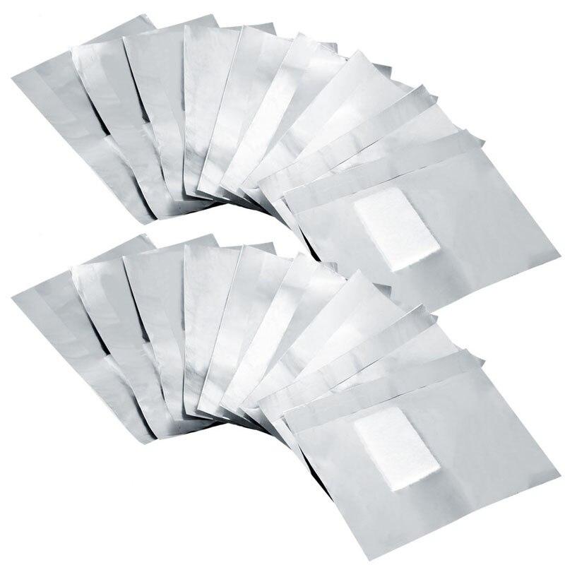 100 шт. алюминиевый Фольга салфеток для стирания с ацетоном лак искусство впитывающийся для ногтей акриловый Гель-лак для ногтей для удалени...
